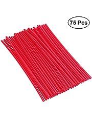 VORCOOL - Lote de 75 piezas para pieles de radión de bicicleta (rojo)
