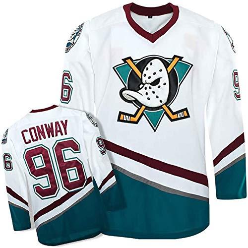 L-SLWI Charlie Conway # 96 Mighty Ducks Eishockey Jersey Movie Hockey Weiße Nähte Buchstaben Nummern S-XXXL,S