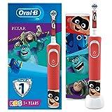 Oral-B Cepillo eléctrico recargable para niños, 1 mango con personajes Disney lo mejor de Pixar, 1 funda de viaje, a partir de 3 años, ideal como regalo de Navidad