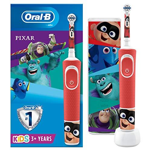 Oral-B Cepillo eléctrico recargable para niños, 1 mango con personajes Disney lo...