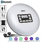 CCHKFEI Portable Lecteur de CD Bluetooth avec écran à LED, Lecteurs de disques de Musique CD personnels pour Enfants Adultes Étudiants Lecteur de CD Walkman