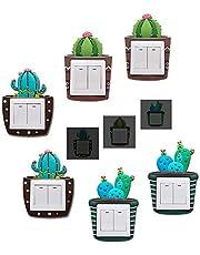 6 piezas Interruptor Pegatina Silicona, Vinilos para Interruptores de la Luz, 3D diseño de dibujos animados Pegatina para interruptor, Interruptor Etiqueta engomada Pegatinas Luz para Sala de Bed Room