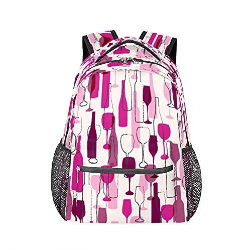 Mochila abstracta para botella de vino, bolsa de viaje, senderismo, camping, bolsa de hombro para mujeres y hombres