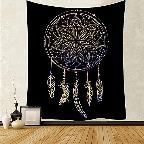 Pluma psicodélica para colgar en la pared, tapiz artístico, tela de pared, alfombra, fondo, tapete de yoga, tapiz, tela de fondo A17 73x95cm