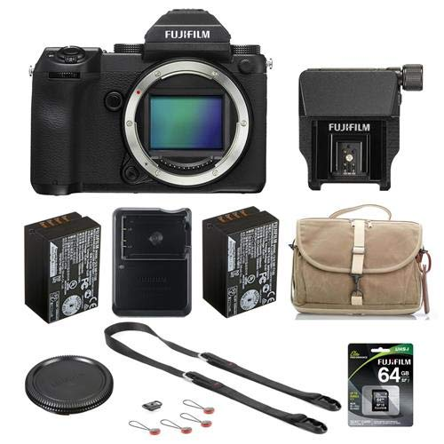 For Sale! Fujifilm GFX 50S 51.4MP Medium Format Mirrorless Camera with Electronic Viewfinder - Bundl...