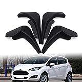 Guardabarros Coche Negro Guardabarros Conjunto Guardabarros Trasero Delantero Para Ford Fiesta 2009-2016 Accesorios Para Coche