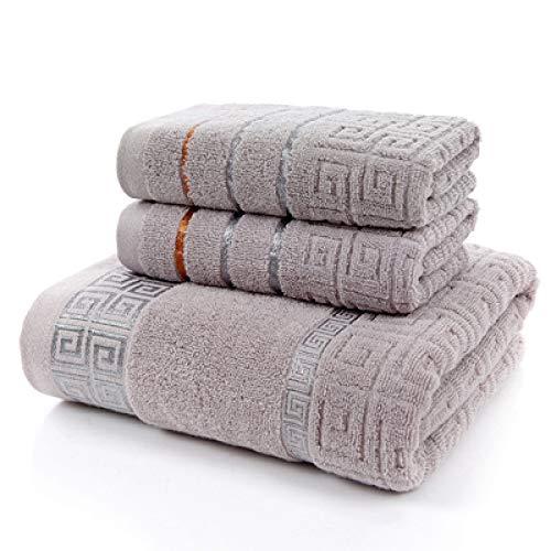 HUANGDANSEN Toalla 100% baño Toalla de baño de algodón Conjunto Toalla de baño para Adultos y Toalla de Felpa