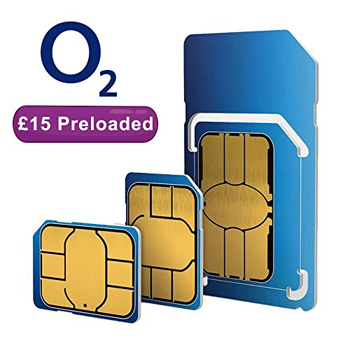 O2 dual/triple payg sim card (standard, micro und nano) Preloaded with £15 prepaid credit. Works on ALL unlocked mobile phones in the UK. Fits ALL phones und models like Samsung, Iphone, Nokia, etc