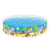 Intex Seahorse Buddies Kids 8 Foot x 18 Inch Instant Kiddie Water SnapSet Swimming Pool