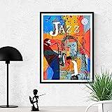 YWCMDH Leinwand Bilder Jazz Greats Poster Miles Davis &