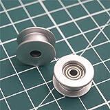 GIMAX 1pcs Aluminum Anodized Flat Idler Roller 3mm bore Timing Belt for Prusa i3 MK3/MK2 X...