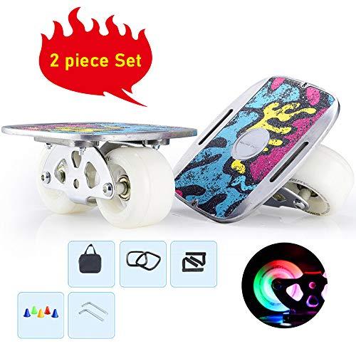 MALY Outdoor-Freeline Roller Skates, Straßen Brett Vitality Skates PU Räder ABEC-9 608 Bearings Skateboard Straße Drift Skates Platte mit PU-Räder High End Bearings
