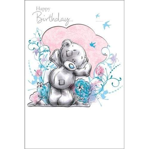 Me To You Tatty Teddy avec des fleurs Me to You Ours Carte d'anniversaire