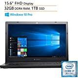 "Dynabook Toshiba Tecra A50-F 15.6"" FHD Business Laptop Computer, Intel Quad-Core i7-8565U up to 4.6GHz, 32GB DDR4, 1TB SSD, DVDRW, AC WiFi, Bluetooth, Windows 10 Professional, iPuzzle Mouse Pad"