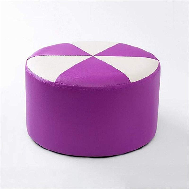 Carl Artbay Wooden Footstool Purple Plus White Stool Children S Leather Stool Home Changing His Shoes Stool Home