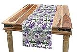 abakuhaus botanico servizio all'americana, lavanda e peony, rettangolare decorativo per sala da pranzo cucina, 40 cm x 225 cm, multicolore