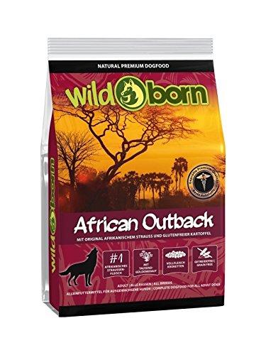 Wildborn African Outback getreidefreies Hundefutter mit Straußenfleisch 2kg | 58% Fleisch