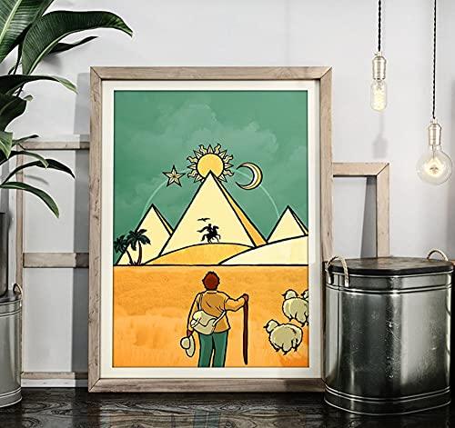 Póster de The Alchemist (Paulo Coelho) sin marco, impresión artística de la cubierta del libro, póster artístico para amantes del senderismo, decoración del hogar vintage M6-5-1