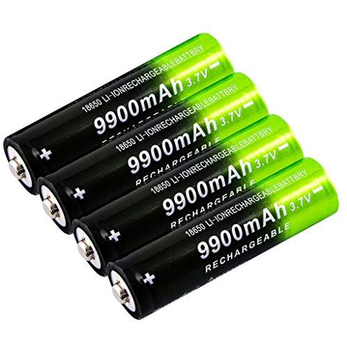 KPNG 2/4/8 Stück 18650 Bateria, 3.7v/ 9800mah Akku, wiederaufladbare Batterien 1,800 Zyklen, für Icr18650 Lithiumbatterien Li-Ion Bateria, für Taschenlampen, Power Bank Scheinwerfer Ersatz (4 Stück)
