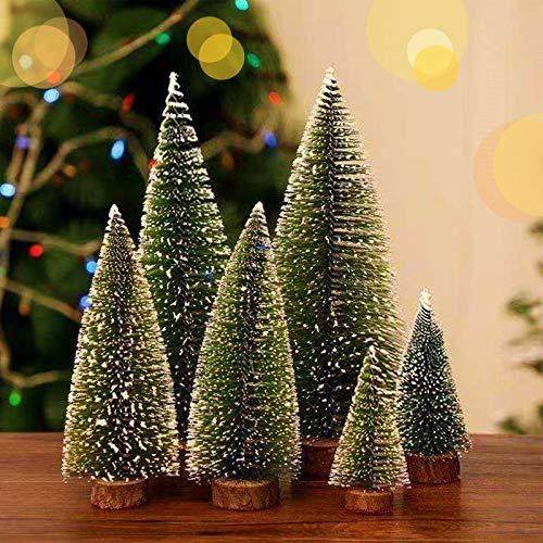 Mini Christmas Tree Decoration, 3 Sizes Artificial Small Tiny Pine Tree, Tabletop Christmas Tree Set, Ornament for Christmas Xmas Holiday New Year (6PCS)