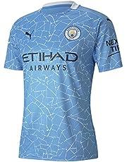 PUMA Camiseta Oficial Temporada 20/21 Home Manchester City FC Replica con Sponsor Logo Camiseta Hombre