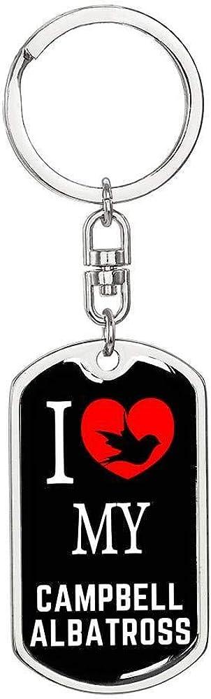 Campbell Albatross Bird Lover Keyring Keychain Stainless Steel Or 18k Gold
