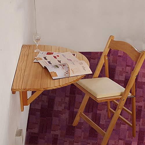 Klappwandbehang Tisch, Halbrunde Wand Schreibtisch Massivholz Wasserdicht Desktop Laptop Tisch Esstisch Schreibtisch Kinder Studie Tisch