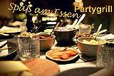 Großes Raclette Grill Set für bis zu 12 Personen - 3in1 Grillstein, Grill- und Raclette Platte mit regulierbarem Thermostat - Fondue mit Pfännchen und Holzspachtel - 7