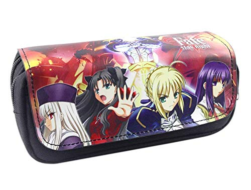 Canvas Cartoon Fate Pen Bag Students Stationery Pen Pencil Bag Anime Leather Cosmetic Bags Fate/Stay Night Purse LATT LIV
