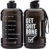 Get It Done, Wasserkrug aus Tritan, 2,2 l, mit Zeitmarkierungslinien, BPA-freie Flasche für Motivation mit Hydrat-Tülle