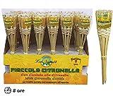 Taschenlampe Aus Bambus 30cm mit Kerze Citronella Brenndauer 8Stunden Geschenk bri492