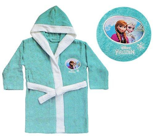 alles-meine.de GmbH Frottee Bademantel Disny die Eiskönigin - 2 bis 4 Jahre / Gr. 92 - 110 - 100 % Baumwolle - für Kinder / Mädchen - Prinzessin Princess - völlig unverfroren Els..