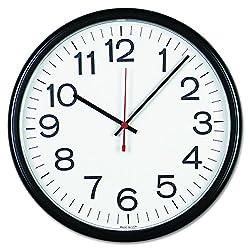 Universal 11381 Indoor/Outdoor Clock, 13 1/2, Black