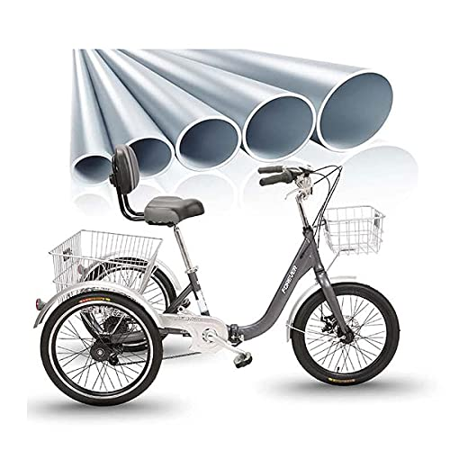 FGVDJ Adult Tricycles 7 Speed 3-Wheel Bike Three-Wheeled Bicycles Cruise Trike with Shopping Basket for Adults Women Men Seniors Exercise Shopping