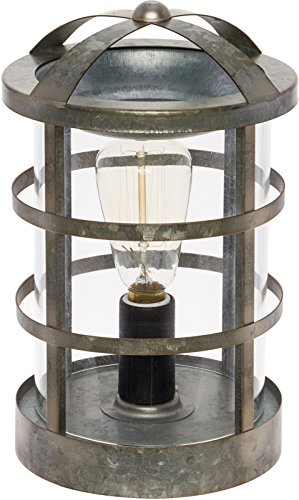 Mindful Design Wax Warmer with a Vintage Style Bulb - Galvanized Medieval Wax Melter (Silver)