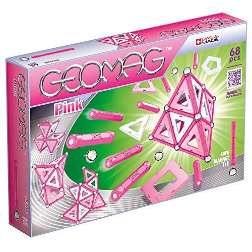 Geomag, Classic Pink 342, Magnetkonstruktionen und Lernspiele, Konstruktionsspielzeug, 68-teilig