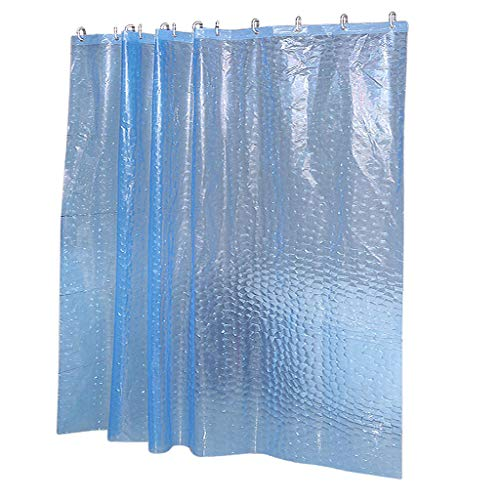 LOVIVER Transparente 3D Wasserwürfel Design Duschvorhang Badezimmer Wasserdichtes - Blau 180 x 180 cm