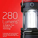 Eveready 360 led camping lantern, ipx4 water resistant, super bright, 100 hour run-time, battery powered outdoor led… 12 : includes 2 (two) eveready collapsible camping led lanterns each lantern operates with 3 aa batteries (included), so you have the power and light you need, right out of the box. : the led lantern provides super bright, white led light as a lantern, or can be used as a flashlight for directional lighting. 360 degress of room, or campsite-filling light! : use the strong magnetic base on these lanterns to mount the light, or simply hang it with the convenient base hook - perfect for hanging in tents!
