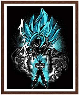 Manga Poster Goku Dragon Ball Anime Wall Art for Home Decor Print on Canvas 8 IN x 10 IN Unframed product image