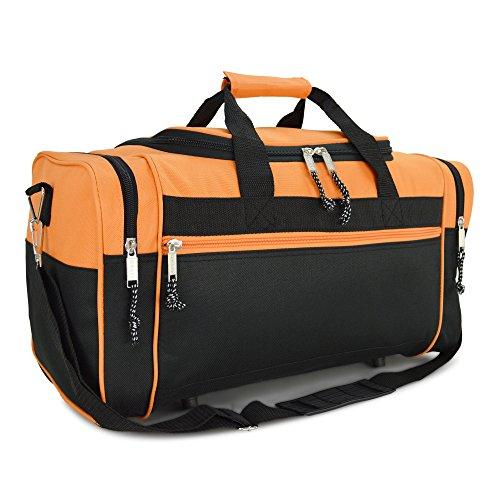 DALIX Sporttasche, 48,3 cm, Schwarz / Rot / Pink / Violett / Marineblau / Grau / Blau, Orange (Orange) - DF-019-Orange