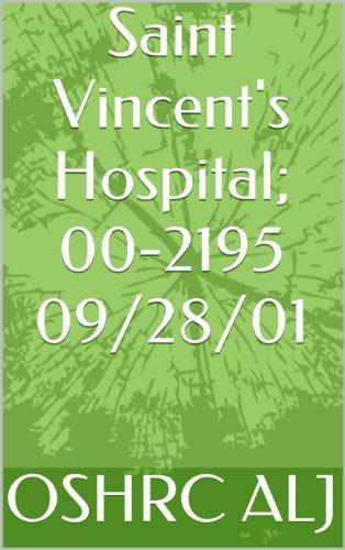Saint Vincent's Hospital; 00-2195 09/28/01 (English Edition)