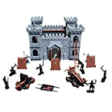 YEIBOBO ! Medieval Castle Toy Army Playset with Building Castle, Soldiers and Siege Engines