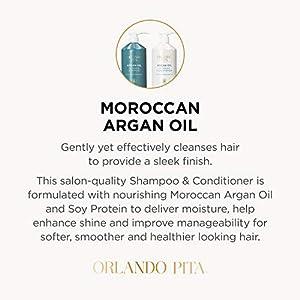 ORLANDO PITA Argan Oil Glossing Shampoo and Conditioner Set, 27 Oz Each