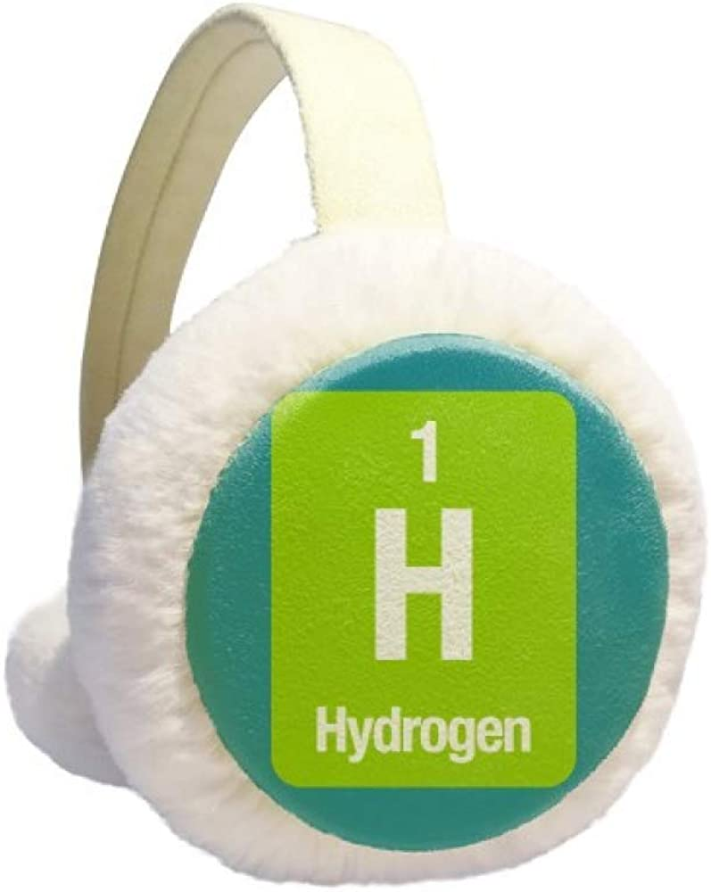 H Hydrogen Chemical Element Science Winter Earmuff Ear Warmer Faux Fur Foldable Plush Outdoor Gift