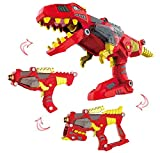 Liberty Imports 3-in-1 Dinoblaster Transforming Dinosaur Gun Engineering Take Apart Toy Tool Kit with Lights and Sound (Tyrannosaurus Rex)