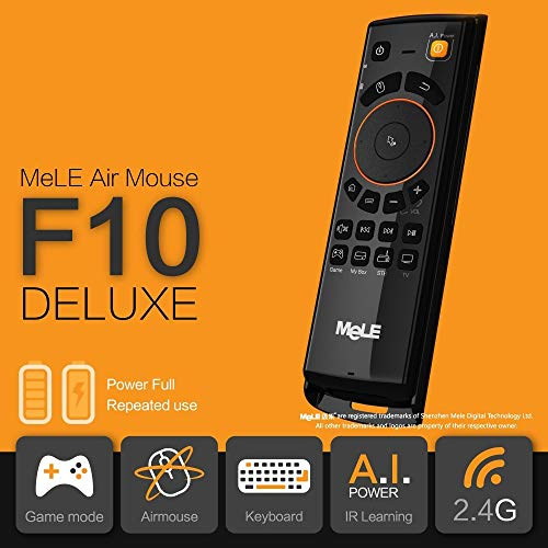 Calvas 2.4GHz Fly Air Mouse Mele F10 Deluxe Wireless Keyboard Remote Control with IR Learning Function for Android TV Box Color: F10 Deluxe