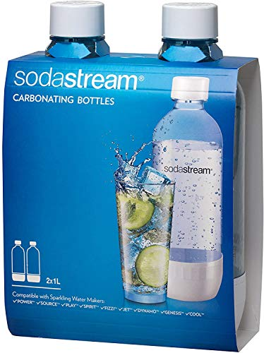 SodaStream Soda-Club 1041230490 PET-Flasche 1 Liter Duopack, blau