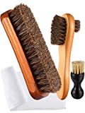 Best Boot Brushes - 3 Pieces Horsehair Shoe Polishing Dauber Kit Shine Review