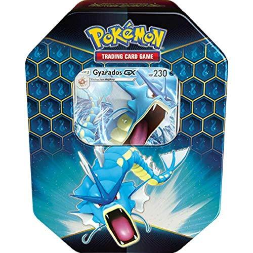Lively Moments Pokemon Karten Tin Box Sun&Moon Hidden Fates Gyarados-GX EN Englisch Trading Card Game / Garados Metallbox