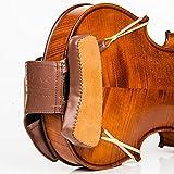 Geigenschwamm-Leder-Schulterkissen, handgefertigte, wunderschön gefertigte, mit Leder gepolsterte Geigenschulter und Kinnstütze für 4/4, 3/4 Größe - robuste Doppelnaht, für Anfänger...